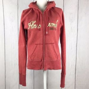 Abercrombie & Fitch Full Zip Red Hoodie XL